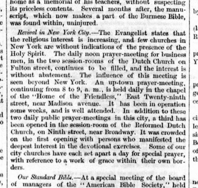 The Washington Union. (D.C.), February 21, 1858, Page 3. On the Revival in New York City
