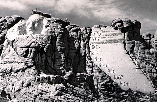 Mount Rushmore Entablature