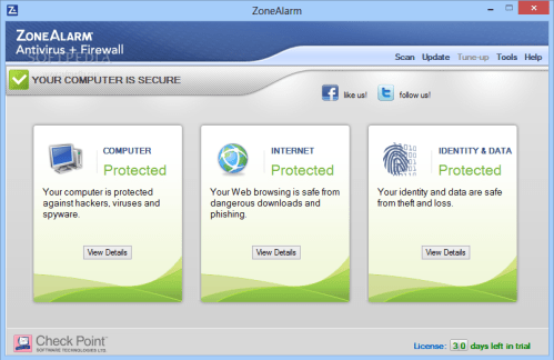ZoneAlarm Pro Antivirus + Firewall 15.4.260.17960 Crack