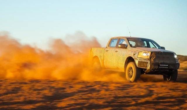2018 Ford Ranger Raptor testing