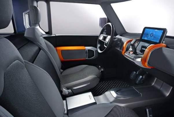 2019 Land Rover Defender Pickup Truck cabin