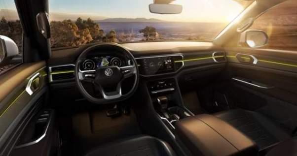 VW Atlas Tanoak pickup truck concept interior