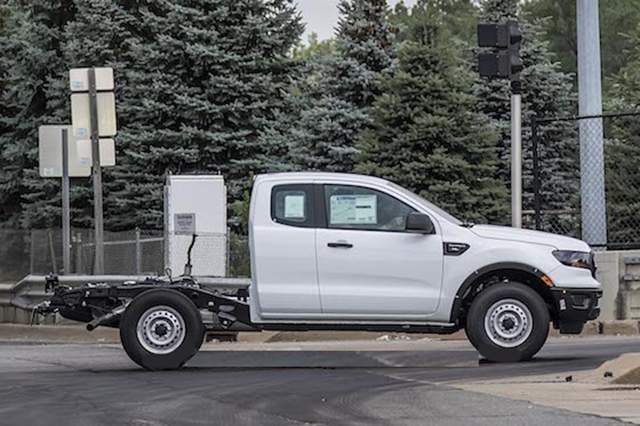 2019 Ford Ranger XL Chassis Cab spy shot