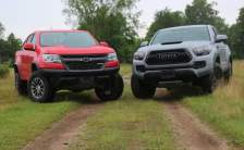 2019 Chevrolet Colorado ZR2 vs 2019 Toyota Tacoma TRD Pro off road