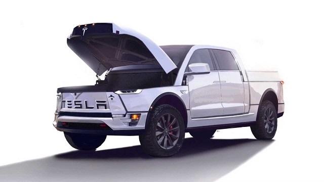 2020 Tesla Electric Pickup Truck model p concept