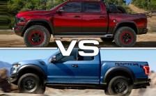 2021 Ford F-150 Raptor V8 VS 2021 RAM Rebel TRX