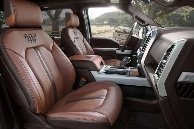 And the interior's feature count is through the roof. 2021 F350 King Ranch Interior Shefalitayal