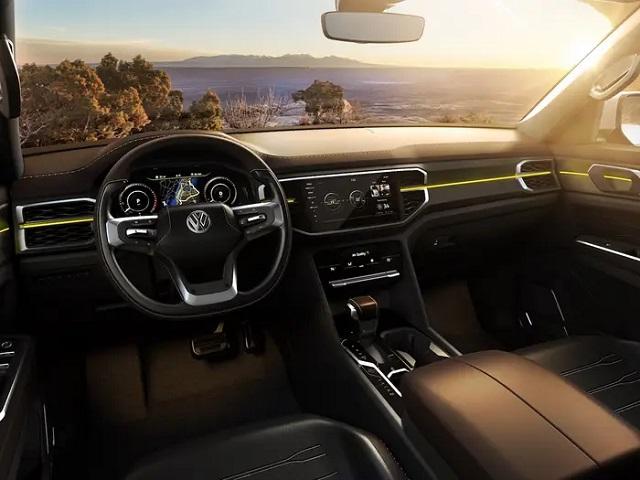 2021 VW Atlas Tanoak interior
