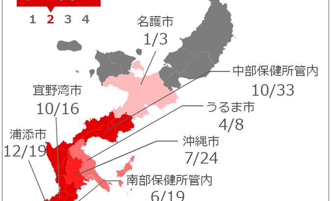 沖縄+70人超