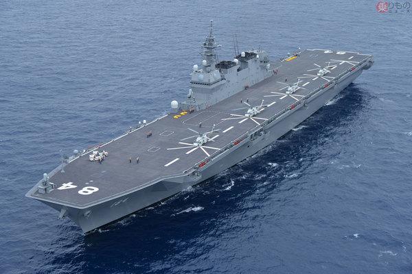いずも型護衛艦の空母改装、米海軍正規空母エセックスやワスプ級強襲揚陸艦と同型の飛行甲板に