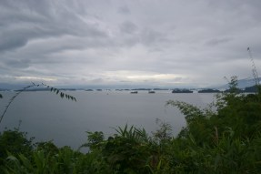 View from the car to Lake Nam Ngum