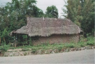 A Hmong house on the road to Luang Prabang