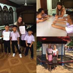Julia with her P1 group and with Juliana on Teacher's Day