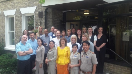 The College staff and us in our teaching uniform from Laos