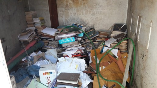 """... new """"storage"""" of books and documents removed from the library."""