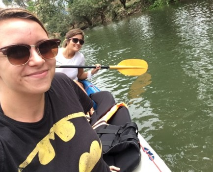 ... paddling our way through amazing scenery