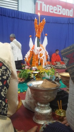 Traditional altar with thread