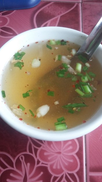 The usual starter - vegetable broth
