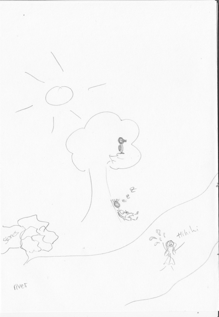 Sketch of one of the first scenes