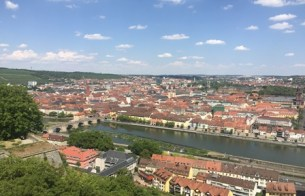 View from the castle over Wuerzburg