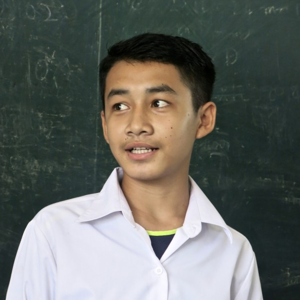 Student in English class, LGTC, Vientiane
