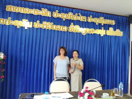 ... and Dr. Phetsamone Khattiyavong (Dean of the Faculty of Linguistics)...
