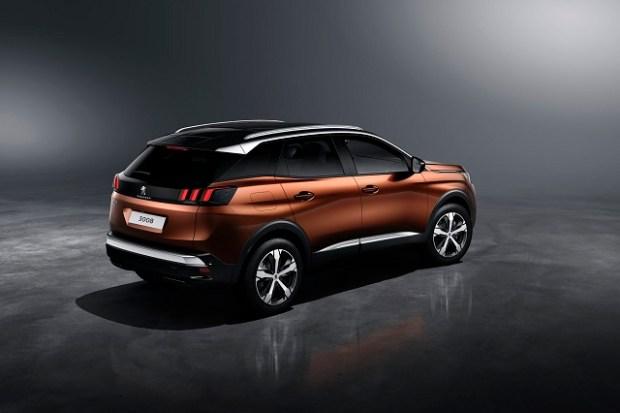 2019 Peugeot 3008 rear view