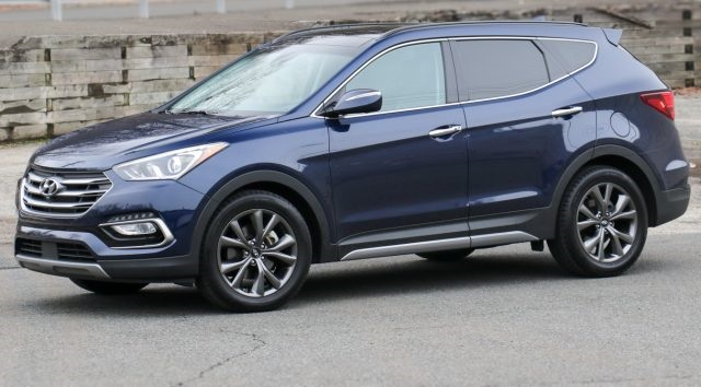 Hyundai Santa Fe Towing Capacity side view