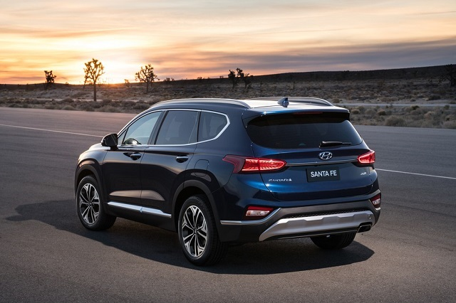 2020 Hyundai Santa Fe rear view
