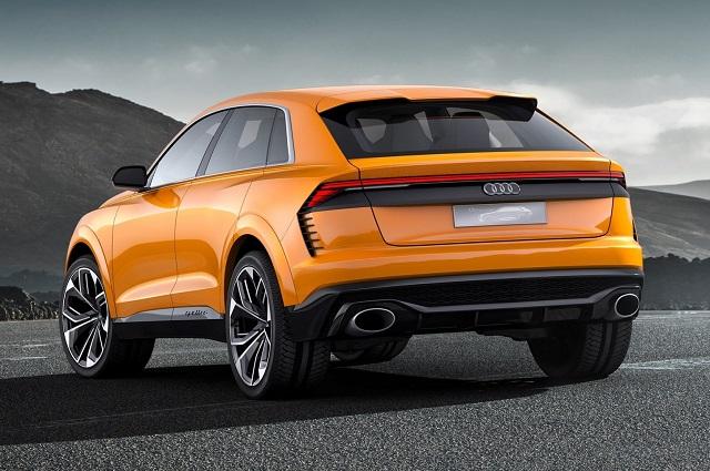 2020 Audi Q8 rear view