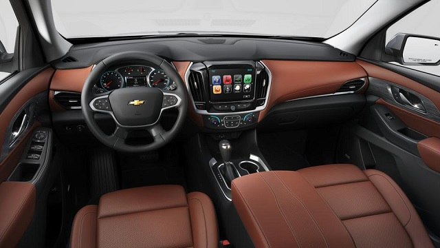 2020 Chevy Traverse Redline interior