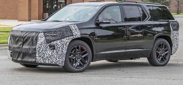 2021 Chevy Traverse spied