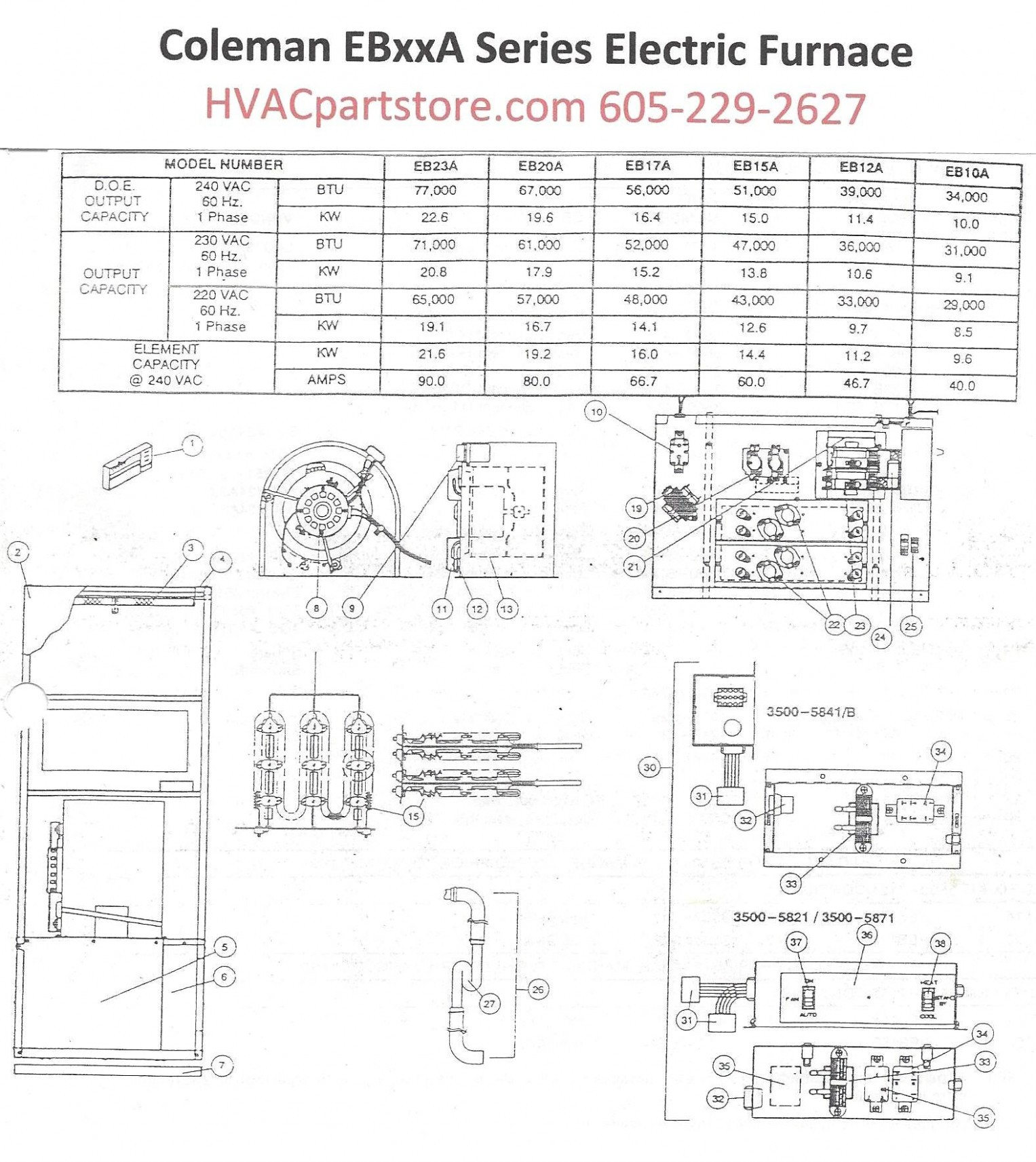 Coleman Electric Furnace Wiring Diagram : Coleman Evcon