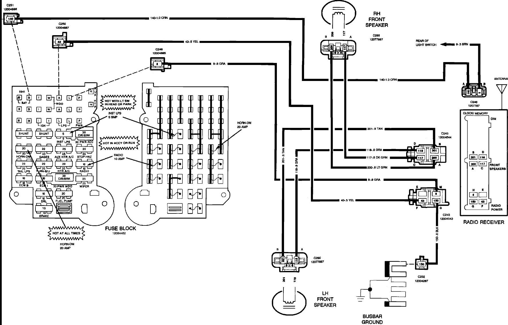 Diagram Chevy Van Fuse Panel Diagram Full Version