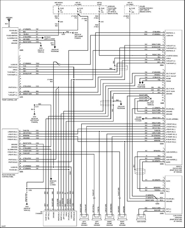 2004 Ford Explorer Radio Wiring Diagram 99 For Science