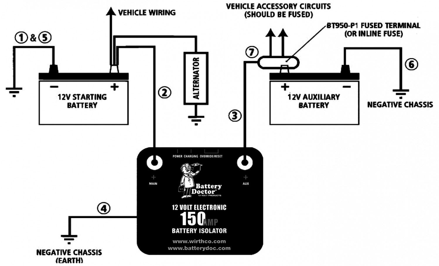 12v Battery Isolator Wiring Diagram