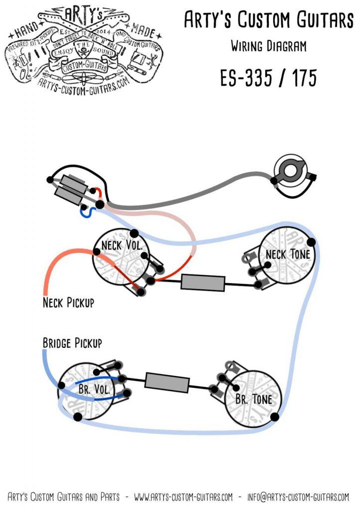 Arty's Custom Guitars Wiring Diagram Plan Es 335 Es 175