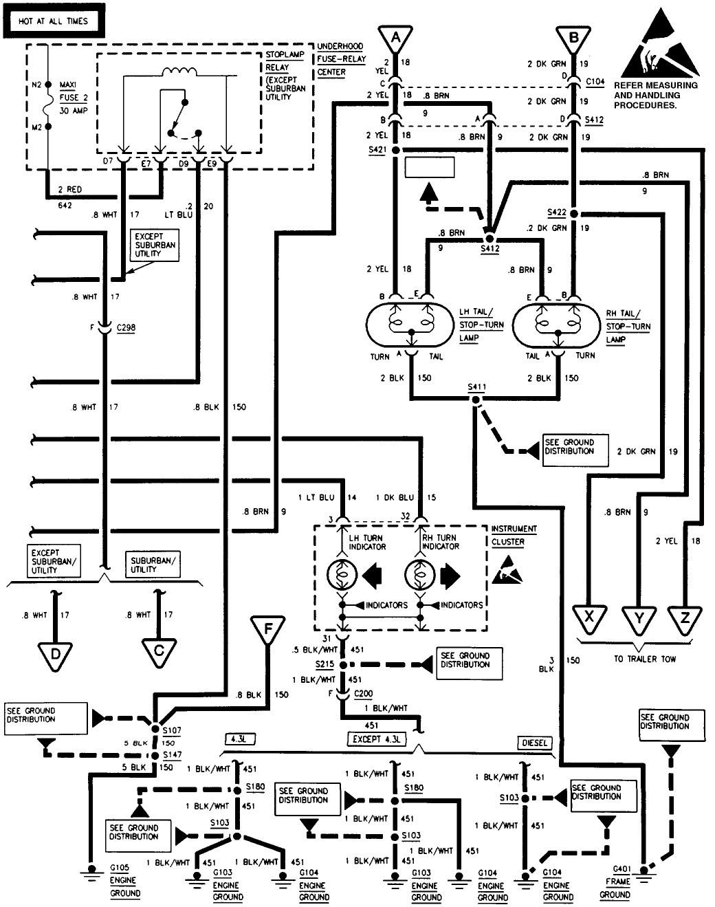 [DIAGRAM] Tail Light Wiring Diagram 98 Sierra FULL Version