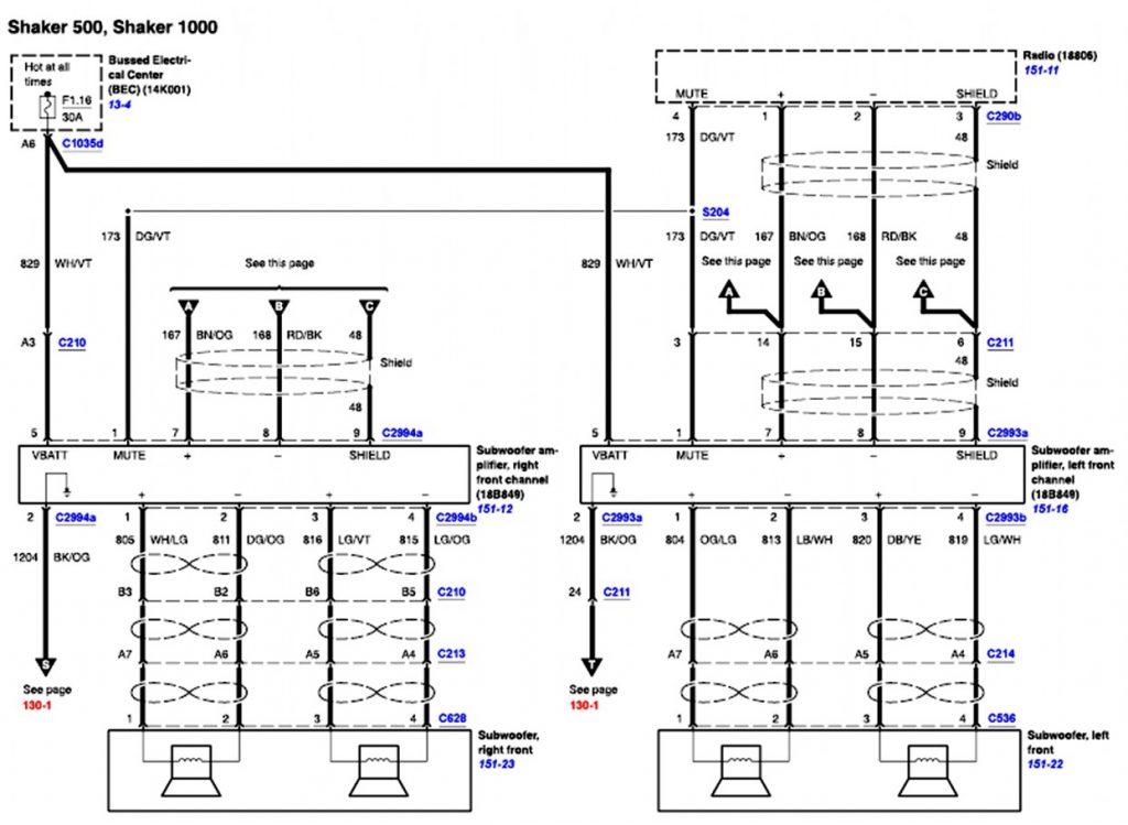 Elegant 2007 Ford F150 Radio Wiring Diagram Mach 1000