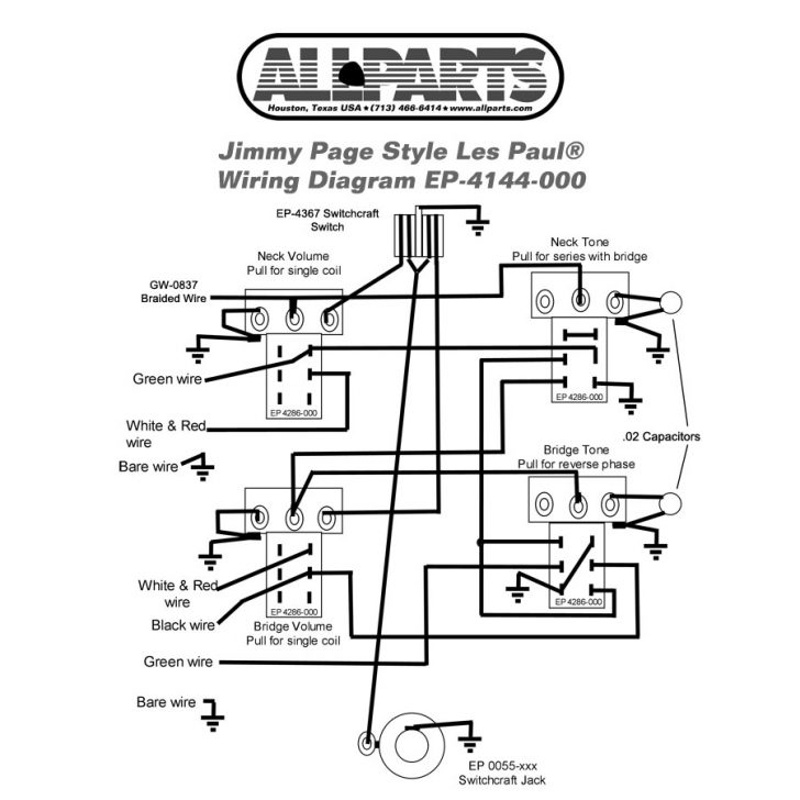 Ep-4144-000 Wiring Kit For Gibson® Jimmy Page Les Paul