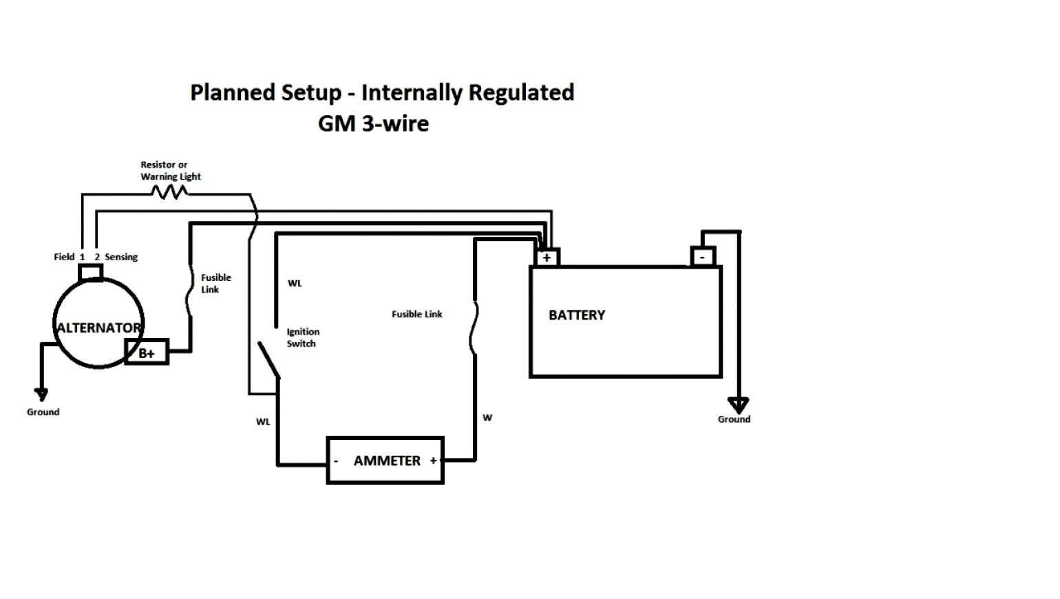 Gm 4 Pin Alternator Wiring Diagram Wiring Library