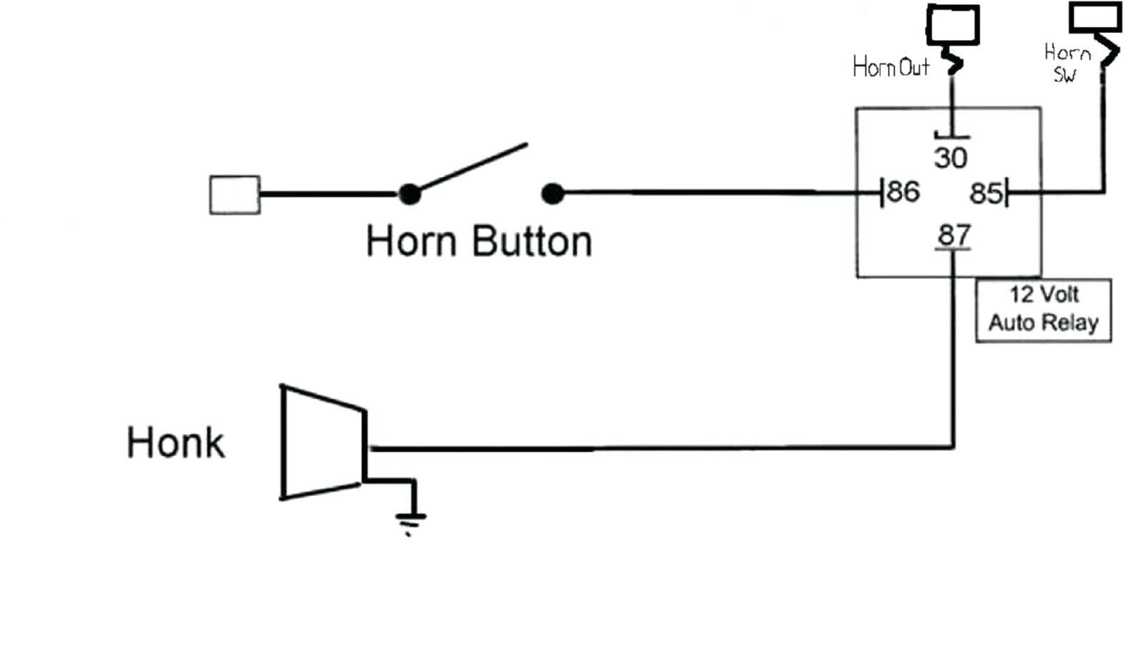 Automotive Horn Wiring