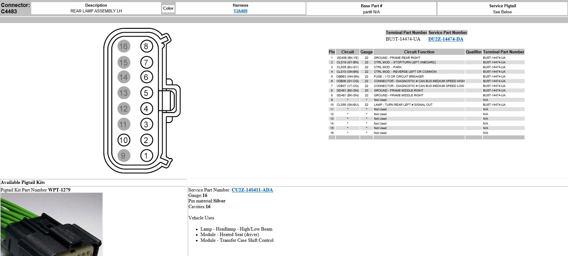 Ford Ranger Tail Light Wiring Diagram