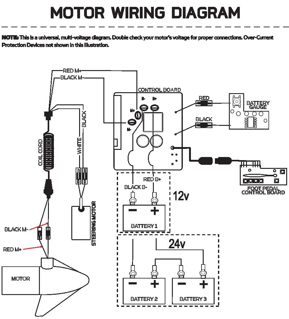 Trolling Motor Battery Wiring Diagram / 24 Volt Trolling