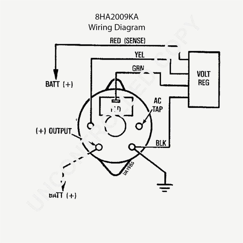 Chevy One Wire Alternator Diagram Electrical Circuit 3
