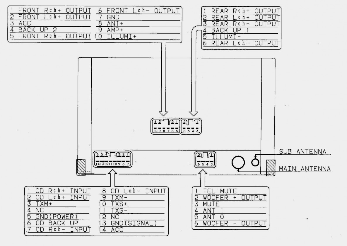 Pioneer 16 Pin Wiring Harness Diagram