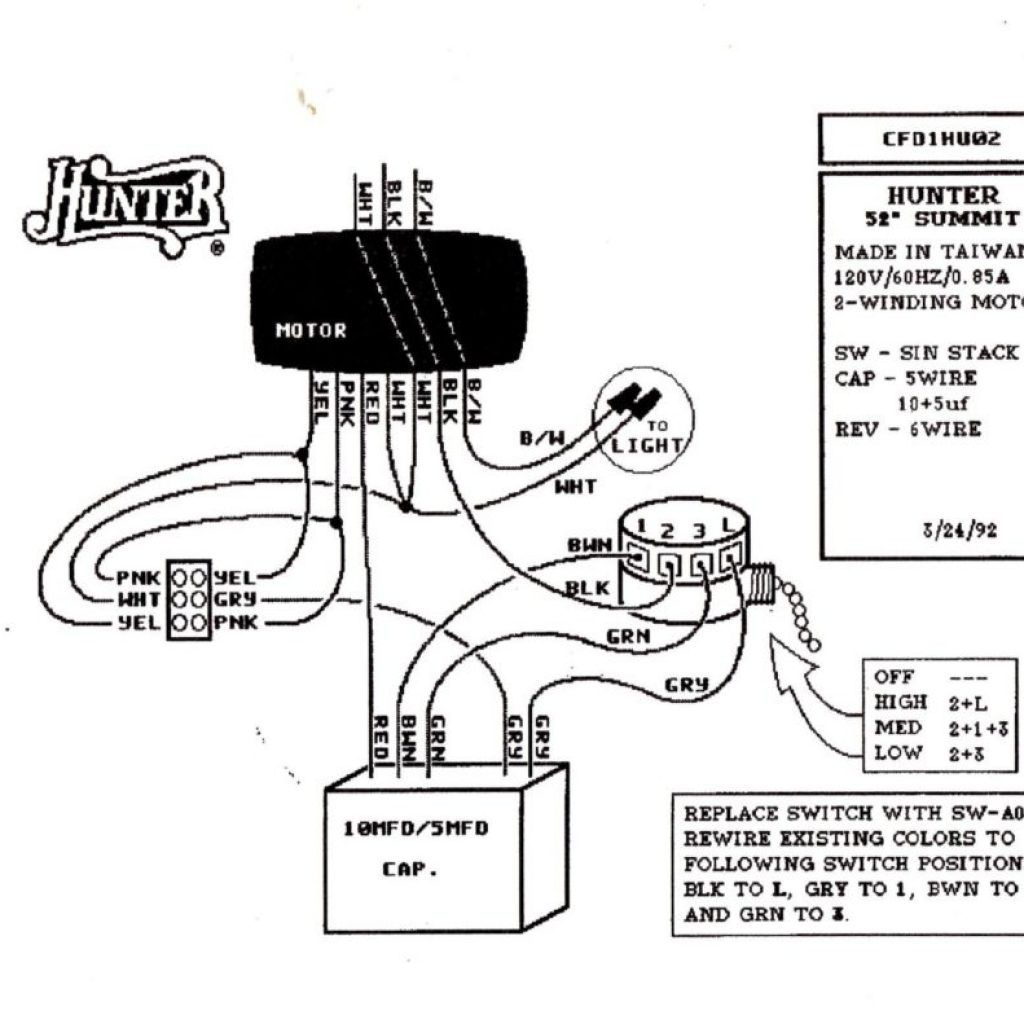 Wiring Diagram For Hunter Ceiling Fan With Light