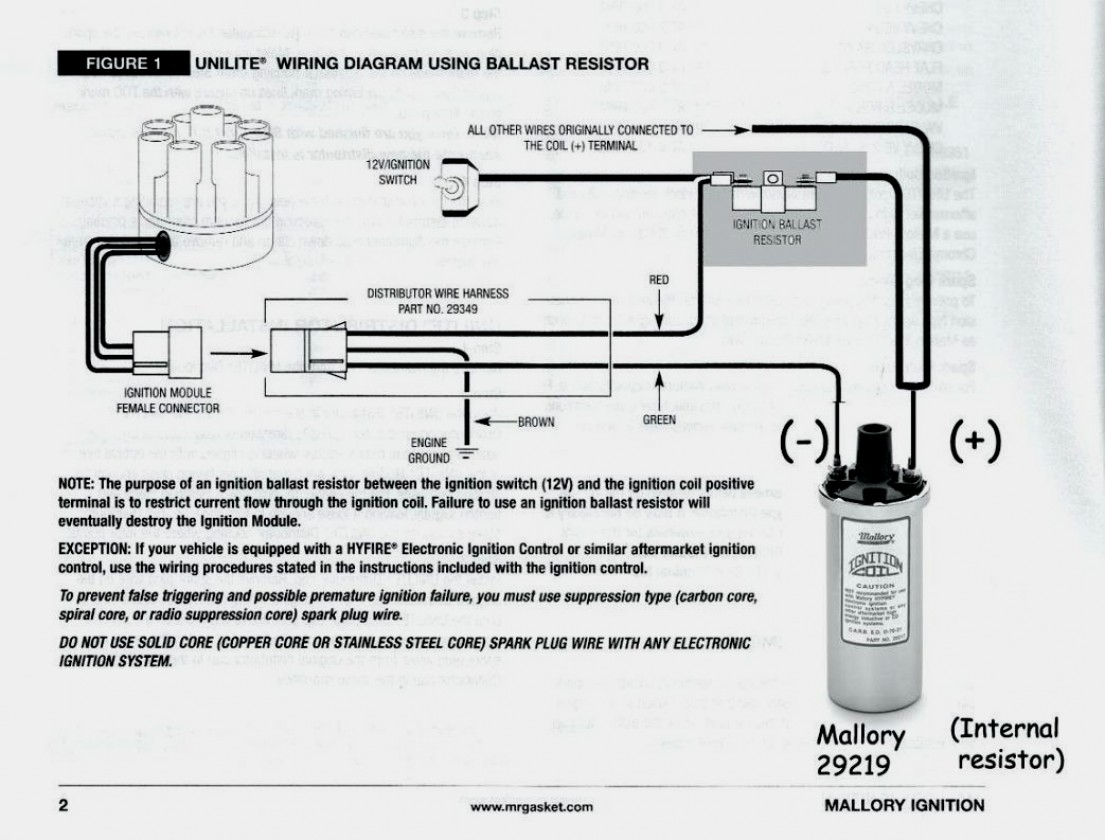 Wiring Diagram For And Accel Distributor Mallory Ignition