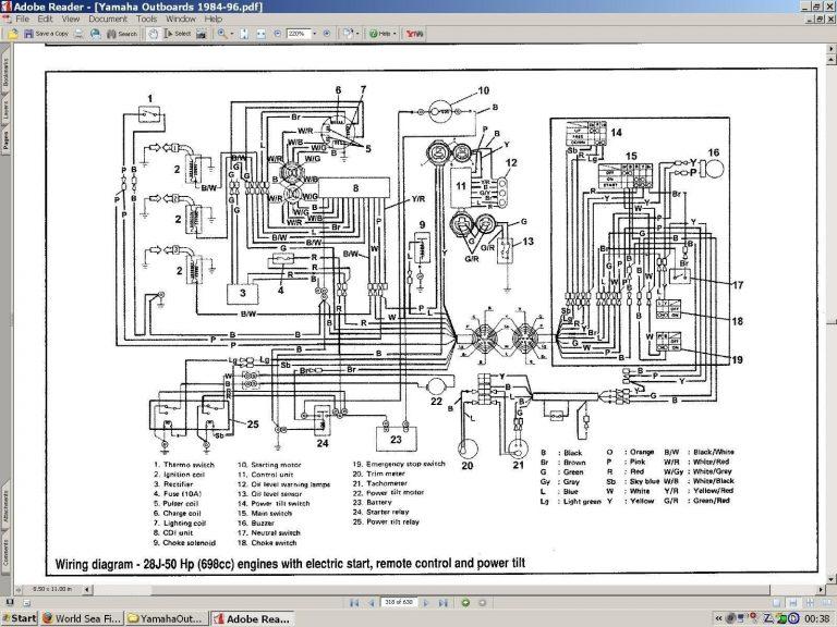 Yamaha 703 Remote Control Tachometer Wiring Diagram