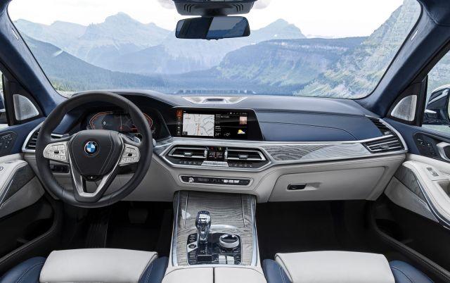 2020 BMW X7 interior view